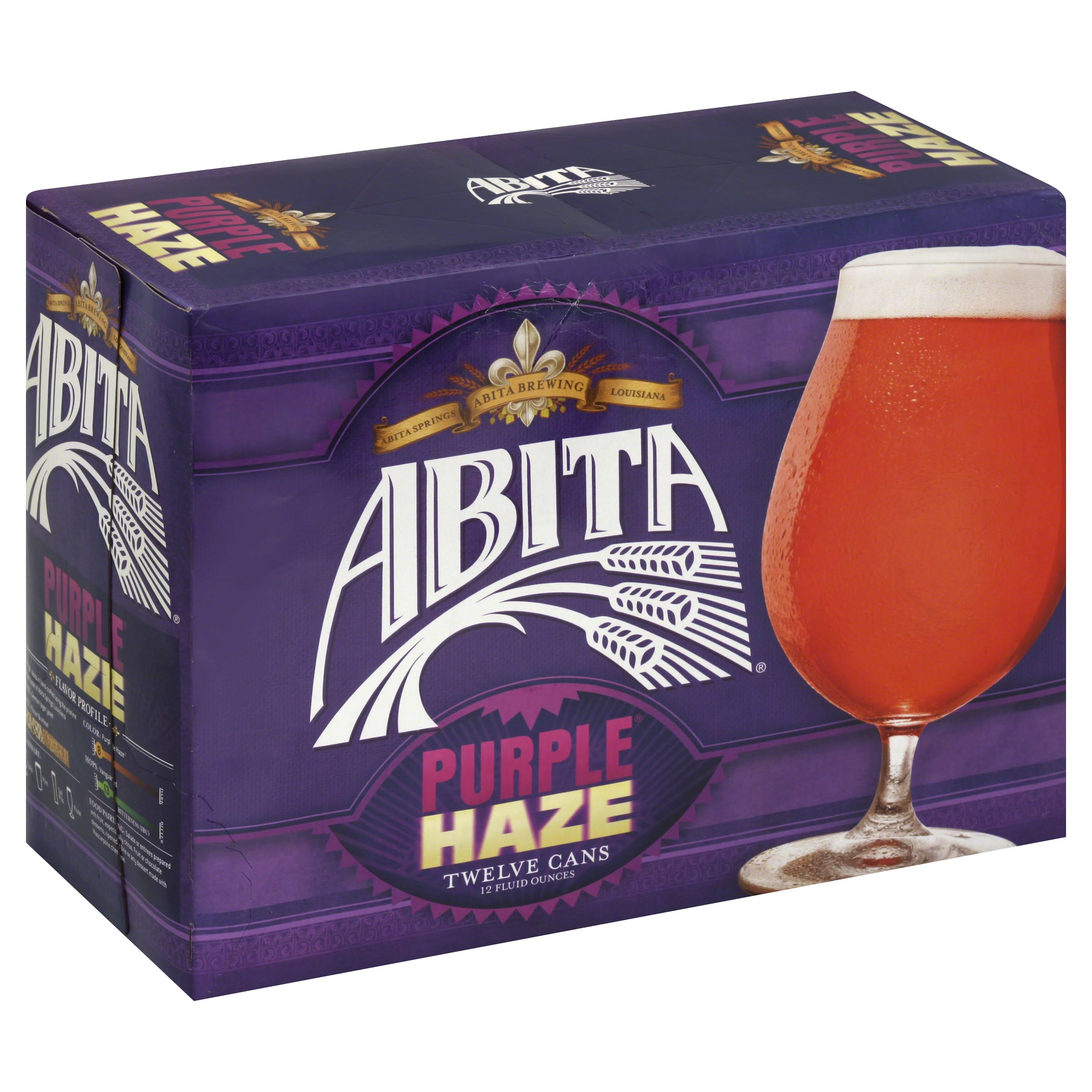 Abita Purple Haze Beer - 12 x 12 oz Pack
