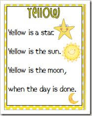 Color Poemshmmmfluency Poems With Picture Support For The Kindergarten