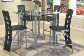 Height Of Dining Room Chairs Black Metro 5 Piece Counter Set 19