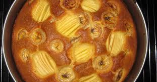 schneller apfel bananenkuchen