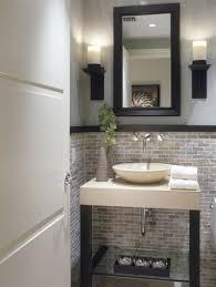 half bathroom designs brick tiles home interiors