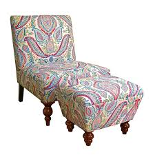 HomePop K6381-A727 Susan Upholstered Armless Accent Chair And Ottoman Set,  Medium, Multicolored Paisley Bright Ideas Big Lots Desk Chair Office Accent Chair Dark Brown Fabric Fancy Accent Chairs Your House Idea Iorpheuscom Fniture Stylish And A Half With Ottoman Design Yellow Upholstered Jane Tufted Velvet Armless With Black Birch Wood Legs Sunrise Parsons Youll Love In 2019 Wayfair Bernhardt Rigby 360sl Swivel Dunk Chair Grey Uk Good Heritage Coaster Seating W Padded Seat Charming Wetripinfo