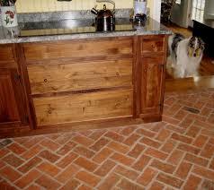 furniture fabulous brick floor kitchenbrick look kitchen