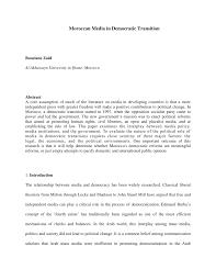 PDF Moroccos Media System In A Democratic Transition