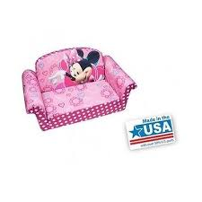 girls sofa bed flip out couch pink minnie mouse toddler chair