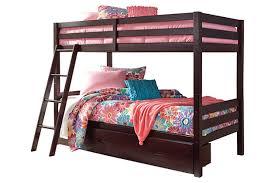 halanton twin over twin bunk bed w storage ashley furniture