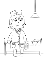 Click To See Printable Version Of Woman Doctor Coloring Page