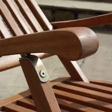 ambleside balau hardwood garden steamer chair side table
