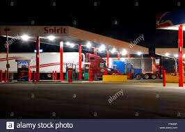 Trucks At Night Fueling Up At A Sapp Brothers Truck Stop East Of ...