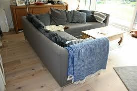 großes lounge sofa hellblau grau hochwertig