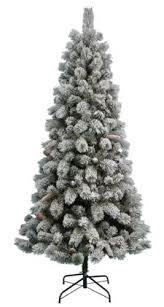 7 5 Feet Flocked Alaskan Pine Christmas Tree