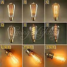 vintage edison bulbs e27 incandescent bulbs st64 filament bulb
