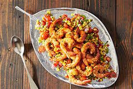 Grilled BBQ Shrimp With Citrus Corn Salad