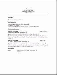 Resume For Child Care Job Objective Worker
