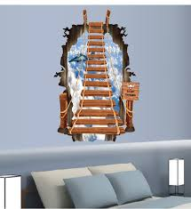 Minecraft Bedroom Wallpaper by Maaryee 57 87cm 3d Sky Ladder Stairs Wall Stickers For Kids Room