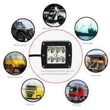 Auto Super Bright 18W Dual Row Square 6 LED Spotlights/Floodlights ... 5 Best Off Road Lights For Trucks Bumpers Windshield Roof To Fit 10 16 Volkswagen Amarok Sport Roll Bar Stainless Steel 8 Online Shop New Led Offroad Lights 9 Inch Round Spot Beam 100w Square Led Driving Work Spot 12v 24v Ip67 Car 04 Duramax Unity Spotlight Install Dads Truck Youtube 4 Inch 27w Led 4x4 Accsories Spotlights Images Name G Passengers Sidejpg Views How To Install Rear F150 Cree Reverse Light Bars F150ledscom Amazoncom Light Bars Accent Lighting Automotive This Badass Truck Came In For Our Fleet Department Rear Facing 30v Remote Control Searchlight 7inch 50w