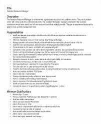 Fast Food Job Title For Resume Lovely Shift Manager Sample
