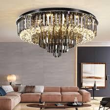 yoogoo elegante decke grau kristall schatten klar kristall wohnzimmer lichter leuchten kreative schlafzimmer beleuchtung dekoration
