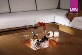 gartenlounge tisch für ecke in l form mbm resysta holzoptik braun la villa loungetisch