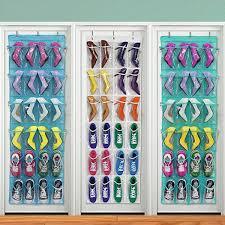 24 Pockets Shoe Storage Rack Over The Door Oxford Cloth Hanging Shoe