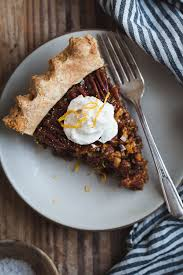 Pumpkin Pie With Molasses Brown Sugar by Salted Sorghum Molasses Pecan Pie With Orange Zest Snixy Kitchen