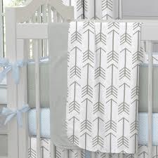 Arrow Crib Bedding by White And Gray Arrow Crib Blanket Carouseldesigns It U0027s A Boy