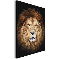 revolio 30x40 cm leinwandbild wandbilder wohnzimmer modern kunstdruck design wanddekoration deko bild auf leinwand bilder 1 teilig löwe tiere mähne