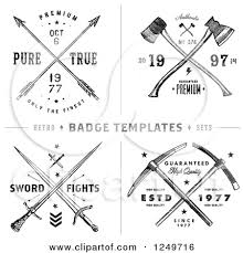 Trees And Arrow Vintage Clipart