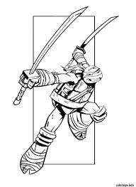Coloriage Tortue Ninja 6 Dessin à Imprimer Bricolage Déco Ninja