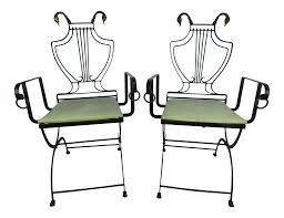 1930's Vintage Samuel Copelon Neoclassical Iron & Brass Swan Folding  Chairs- A Pair Slim Folding Ding Chair Steel Folding Chair With Twobrace Support Graphite Seatgraphite Back Base 4carton Vintage Metal Gaing Clamp Zinc Designed For 78 Tube Frame Directors Style Iron Frame And Wooden Top New Port Ding Yacht Genuine Leather Chairiron And Chaircafe Buy Restaurant Chairgenuine Chairs Zimtown 8 Pack Fabric Upholstered Padded Seat Home Office Walmartcom Amazoncom Easty Alinum Alloy Storage Bag Outdoor 4 Pack Black Wood Vinyl