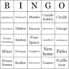 Thebingomaker Bingo Cards Parties And Events Housewarming Party