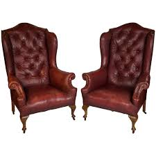 Pair Of Early 20th Century Red Leather Wing Back Chairs At 1stdibs Oversized Lillian August Brown Tufted Leather English Chesterfield Winged Armchair Modern Chairs Quality Interior 2017 Western Fniture Cowboy Furnishings From Lones Star Nadia Wing Chair Ideas For My Living Room Pair Of Early 20th Century Red Back At 1stdibs Elegant Design With Excellent Wingback For Awesome Images Inspiration Surripuinet Vintage Used Chairish Ikea Strandmon And Footrest Ebay L