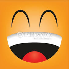 Vector Cute Cartoon Orange Laughing Face Art