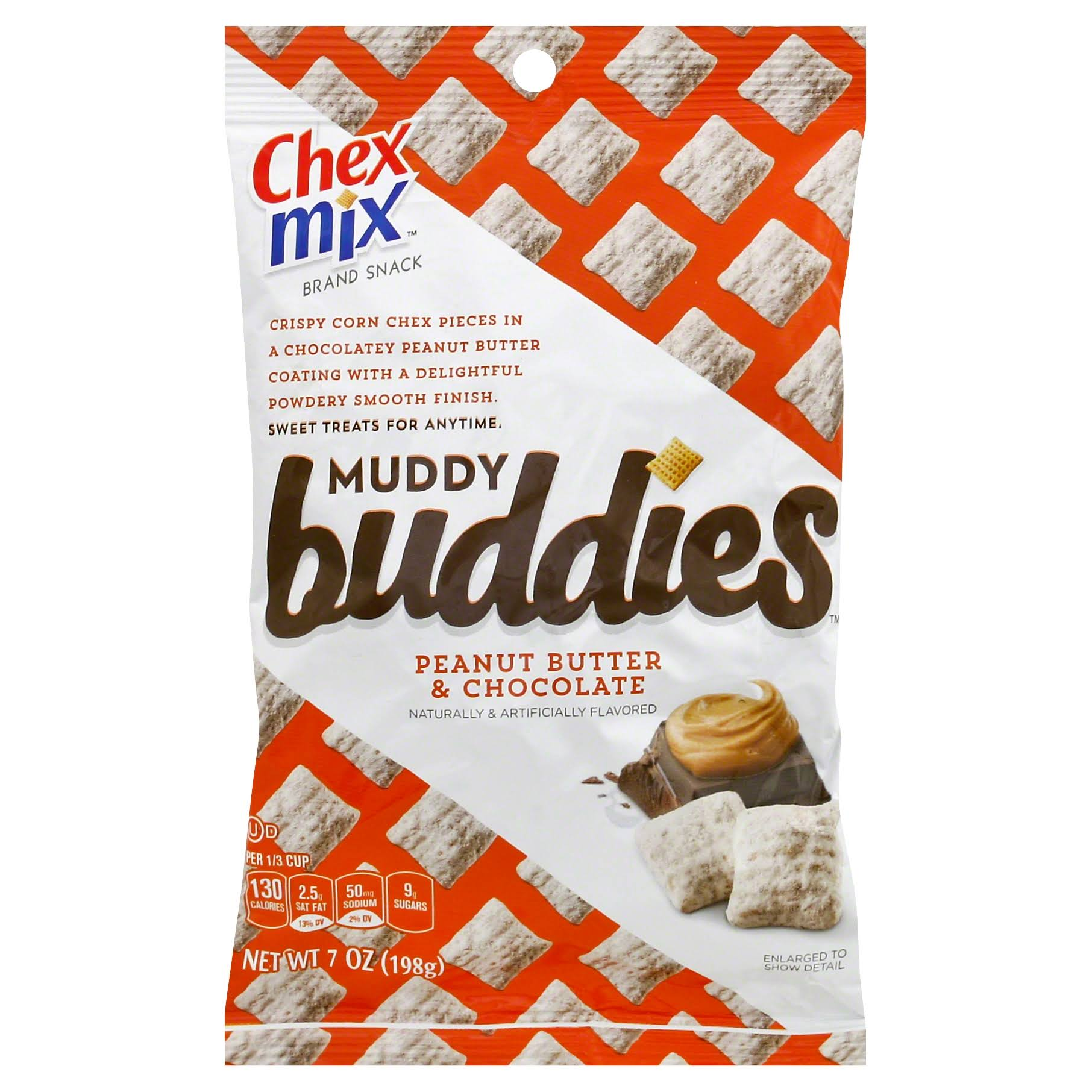 Honey Nut Chex Muddy Buddies Snack Mix - Peanut Butter and Chocolate, 7ozz