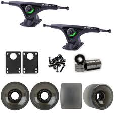 Bear 852 Black Longboard Trucks Wheels Package 70mm Sliding Wheels ...