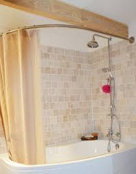 barre rideau de pour baignoire asymetrique castorama