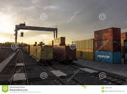 100 Trains Vs Trucks Container Terminal For Unloading Goods From To