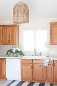 Updating a Kitchen with Oak Cabinets Without Painting Them}