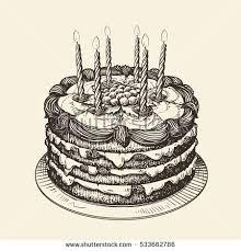 Drawn chocolate vintage cake 14
