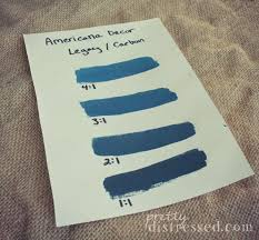 Pretty Distressed Creating Custom Color with Americana Decor