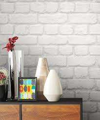newroom papiertapete steintapete tapete weiß steinoptik wohnzimmer ziegelstein backstein mauerwerk klinker tapete steinoptik wohnzimmer