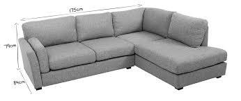 canapé angle tissu canapé d angle droit design 5 places tissu gris milord miliboo