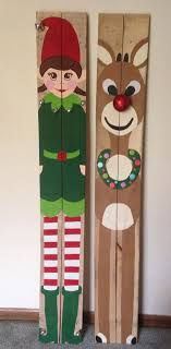 Reclaimed Wood Pallet Santa Mrs Claus Rudolph Elf By PalletsByUs Christmas TreeChristmas CraftsChristmas