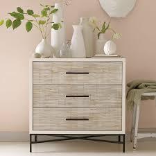 Wood Tiled 3 Drawer Dresser