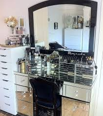 Glass Makeup Vanity Set Interior Design Ideas Cannbe With