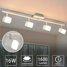 padma led deckenstrahler modern mit 4 flammig schwenkbar 16w deckenleuchte wohnzimmer warmweiß 1600lm 3000k 80 energie sparen küchenle für