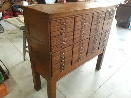 Shaw Walker File Cabinet History by Shaw Walker Oak Cabinet 47 Drawers Antique Appraisal Instappraisal