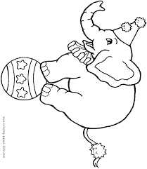 And Theres More Elephants Here Circus Elephant Coloring Page 16 Clowns Color