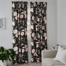 details zu ikea rosenmott vorhang gardinenpaar 145x300 ösenvorhang vorhang blumen markise