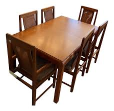 100 Sears Dining Table And Chairs 1970s Roebuck Oak With 6 Chairish